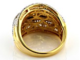 Engild™ White Diamond 14k Yellow Gold Over Sterling Silver Ring 1.05ctw