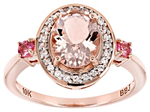 Pink Morganite 10k Rose Gold Ring 1.72ctw