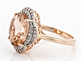 Pink Morganite 10k Rose Gold Ring 4.19ctw