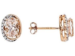 Pink Morganite 10k Rose Gold Earrings 1.42ctw