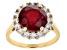 Mahaleo Ruby 10K gold ring 4.45ctw