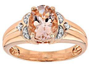 Pink morganite 10K rose gold ring 1.48ctw