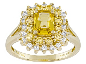Yellow Sapphire 10k Yellow Gold Ring 1.79ctw.