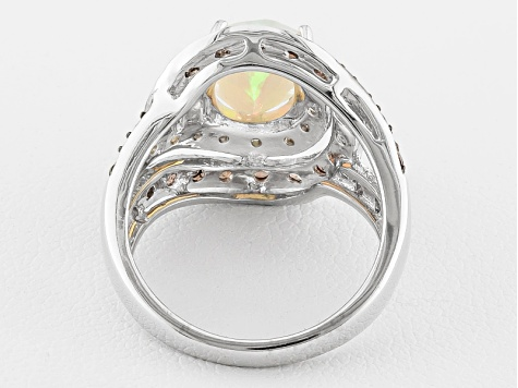 Multi Color Ethiopian Opal Sterling Silver Ring 1.28ctw