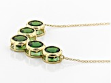 Green Russian Chrome Diopside 10k Yellow Gold Necklace 4.25ctw
