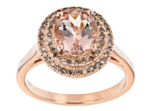 Pink Morganite 10k Rose Gold Ring 1.43ctw