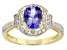 Blue Tanzanite 10k Yellow Gold Ring 1.37ctw