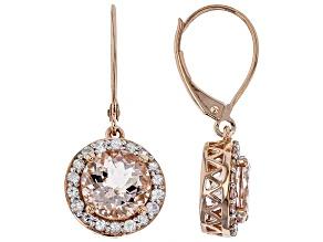 Peach Cor-de-Rosa Morganite™ 10k Rose Gold Dangle Earrings 3.65ctw