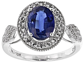 Blue Kyanite 10k White Gold Ring 2.58ctw