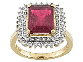 Mahaleo Ruby 10k Yellow Gold Ring 4.90ctw