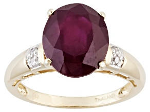 Mahaleo Ruby 10k Yellow Gold Ring 6.00ctw