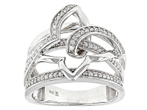 Diamond Rhodium Over Sterling Silver Ring .20ctw