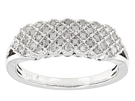 a32e18699 Diamond Rhodium Over Sterling Silver Ring .25ctw - ESD022 | JTV.com