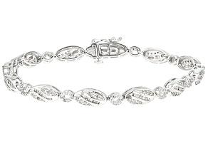 Diamond Rhodium Over Sterling Silver Bracelet 1.25ctw