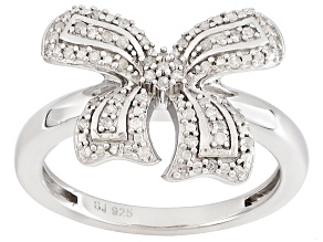 Diamond Rhodium Over Sterling Silver Ring .20ctw