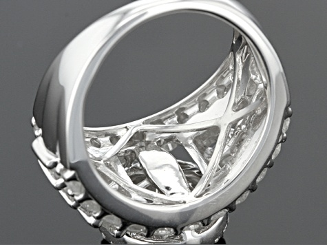 Diamond Rhodium Over Sterling Silver Ring 2.00ctw