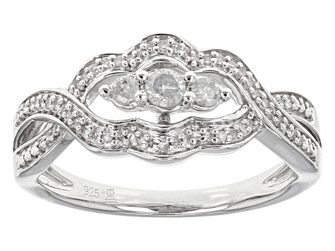 a0ee1f776 Diamond Rhodium Over Sterling Silver Ring .25ctw - ESD099 | JTV.com