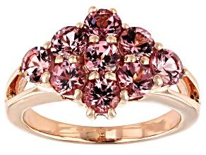 Masasi Bordeaux Garnet 18k rose gold over sterling silver ring 2.52ctw