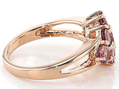 Masasi Bordeaux Garnet™ 18k rose gold over sterling silver ring 2.52ctw