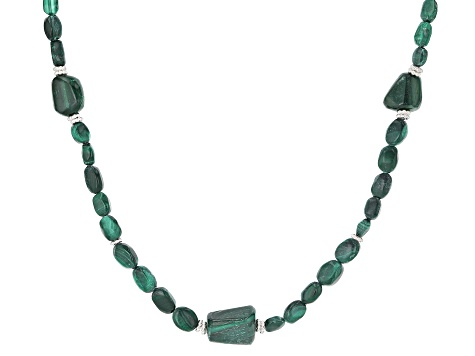 Green Malachite Sterling Silver Necklace