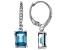 London blue topaz rhodium over silver earrings 3.43ctw