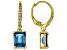 London blue topaz 18k gold over silver earrings 3.43ctw