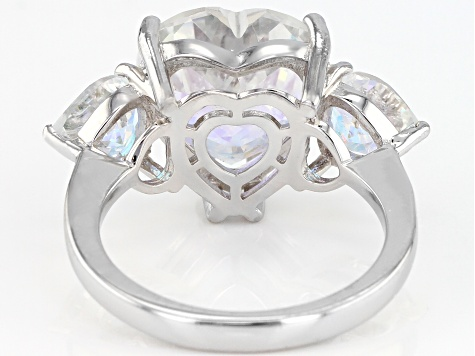 Mercury Mist® Topaz Rhodium Over Sterling Silver Ring 7.69ctw