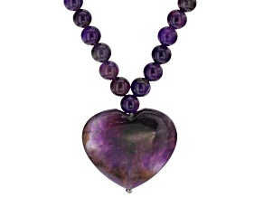Purple amethyst sterling silver necklace
