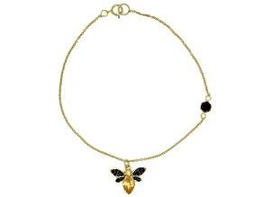 Yellow citrine 18k gold over silver bracelet .81ctw