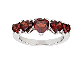 Red Garnet Rhodium Over Sterling Silver Ring 2.20ctw