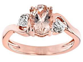 Pink Morganite 18k Rose Gold Over Sterling Silver Ring 0.95ctw