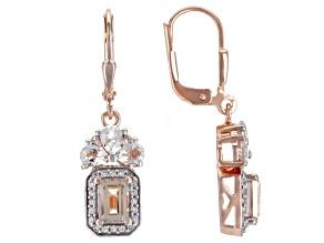 Pink Morganite 18k Rose Gold Over Sterling Silver Earrings 2.36ctw