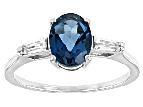 London Blue Topaz Rhodium Over Sterling Silver Ring 1.49ctw