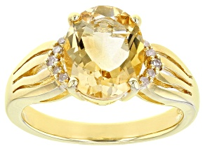 Yellow Citrine 18K Yellow Gold Over Sterling Silver Ring 1.94ctw