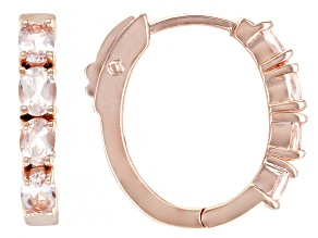 Pink Morganite 18k Rose Gold Over Sterling Silver Hoop Earrings 0.95ctw