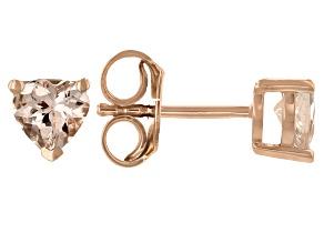 Pink Morganite 18k Rose Gold Over Sterling Silver Stud Earrings 0.64ctw