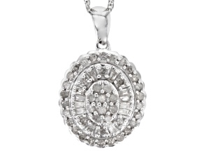 Diamond Sterling Silver Pendant .50ctw