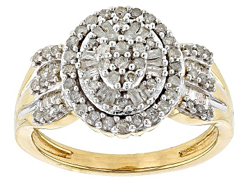 Picture of Diamond 14k Yellow Gold Over Sterling Silver Ring .50ctw