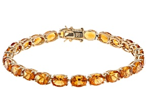 Orange Madeira citrine 18k Yellow Gold Over Sterling Silver Bracelet 20.76ctw