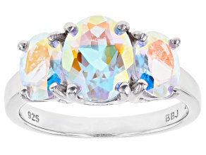 Multi-Color Mercury Mist(R) Topaz Rhodium Over Silver Ring 3.53ctw