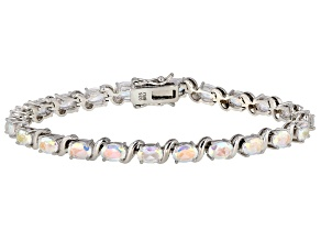 Multicolor Mercury Mist(R) topaz rhodium over silver bracelet 10.23ctw