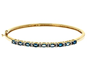 London Blue Topaz 18k Yellow Gold Over Silver Bracelet 2.53ctw