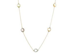 Glacier Topaz(TM) 18k yellow gold over silver necklace 22.95ctw