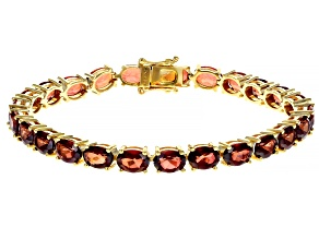 Red Labradorite 18k Gold Over Silver Bracelet 16.53ctw