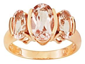 Pink Morganite 10k Rose Gold Ring 2.75ctw