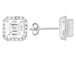 Danburite 10k White Gold Earrings 2.17ctw