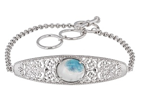 Blue Paraiba Tourmalinated Quartz Sterling Silver Bracelet