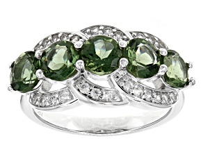 Green Apatite Sterling Silver Ring 2.47ctw