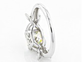 White Fabulite Strontium Titanate With White Topaz Sterling Silver Ring 3.21ctw