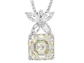 White Lab Created Strontium Titantate Silver Pendant With Chain 2.75ctw